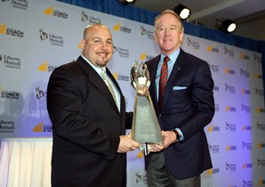 RossomandoManningD2.JPG NEW HAVEN FOOTBALL COACH WINS AWARD DONATES TO LFG
