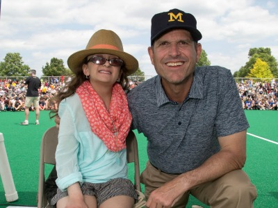 harbaugh loose More Than 2100 Athletes Help Raise $114000 at 2015 LFG PA Camp